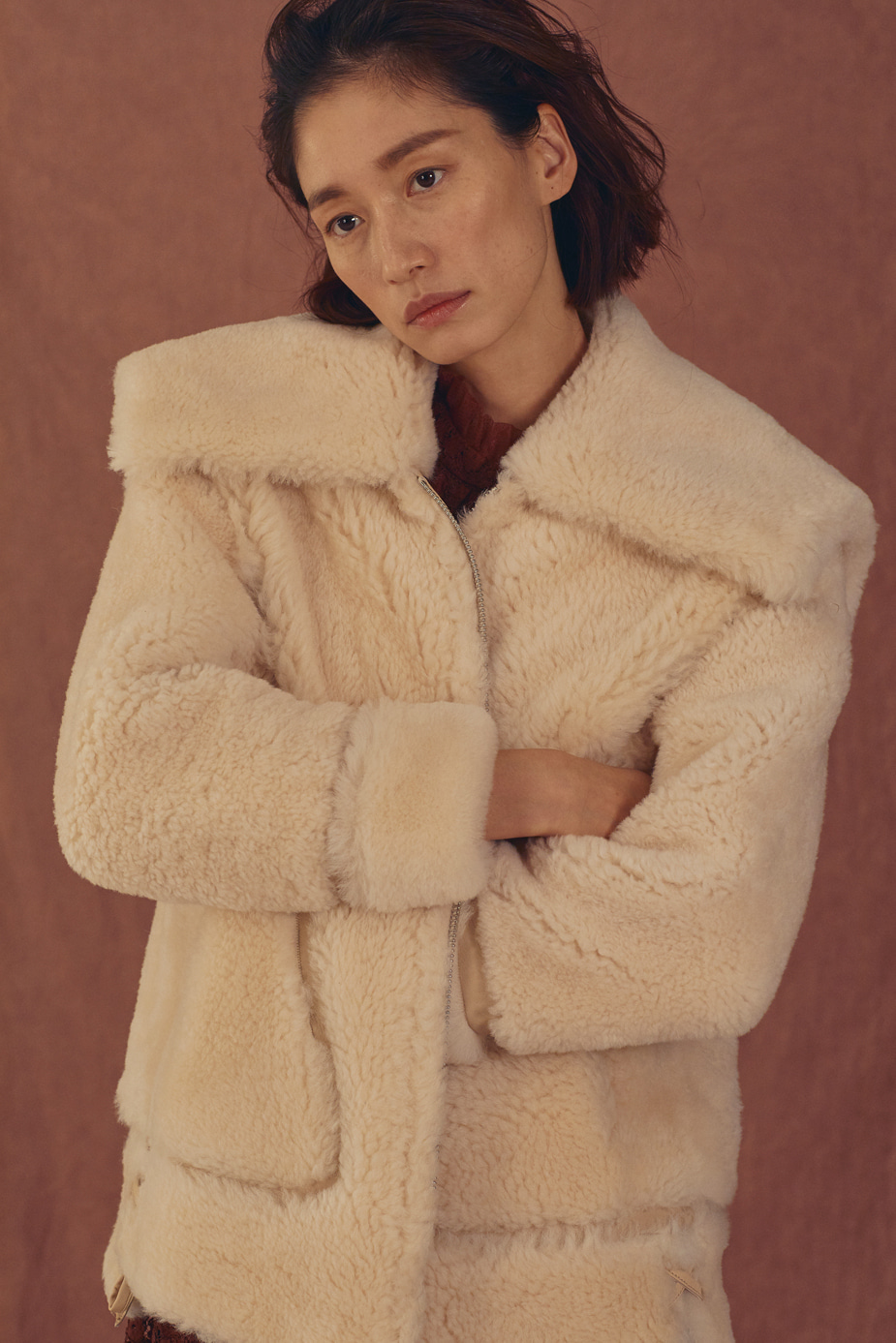 Tangerine Fur Jacket