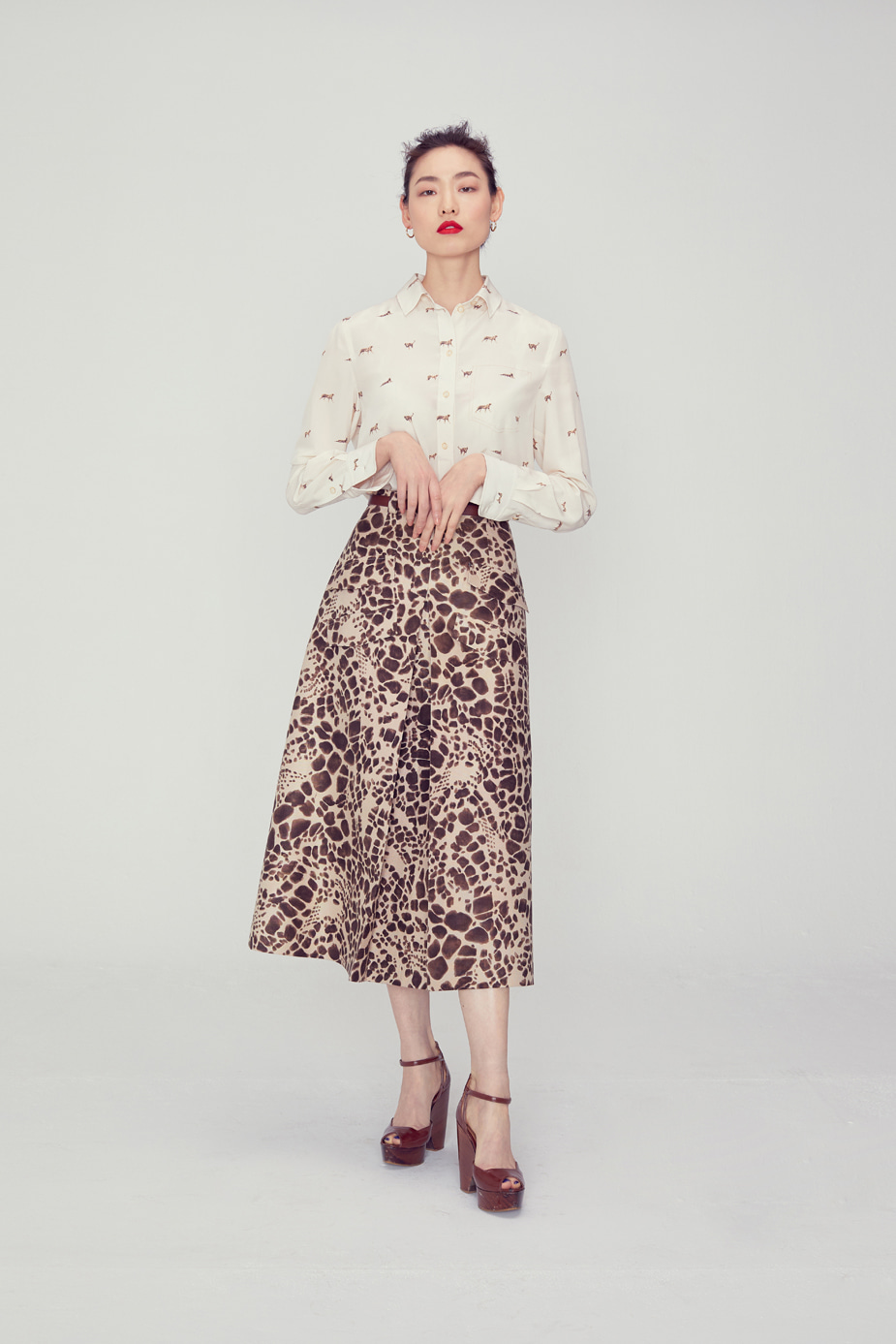 Kyra Pocket Skirt(LEOPARD)