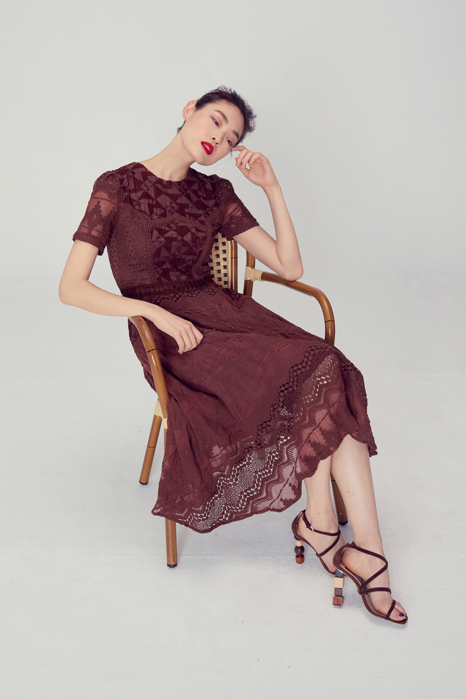 Rosy Dress(BROWN)