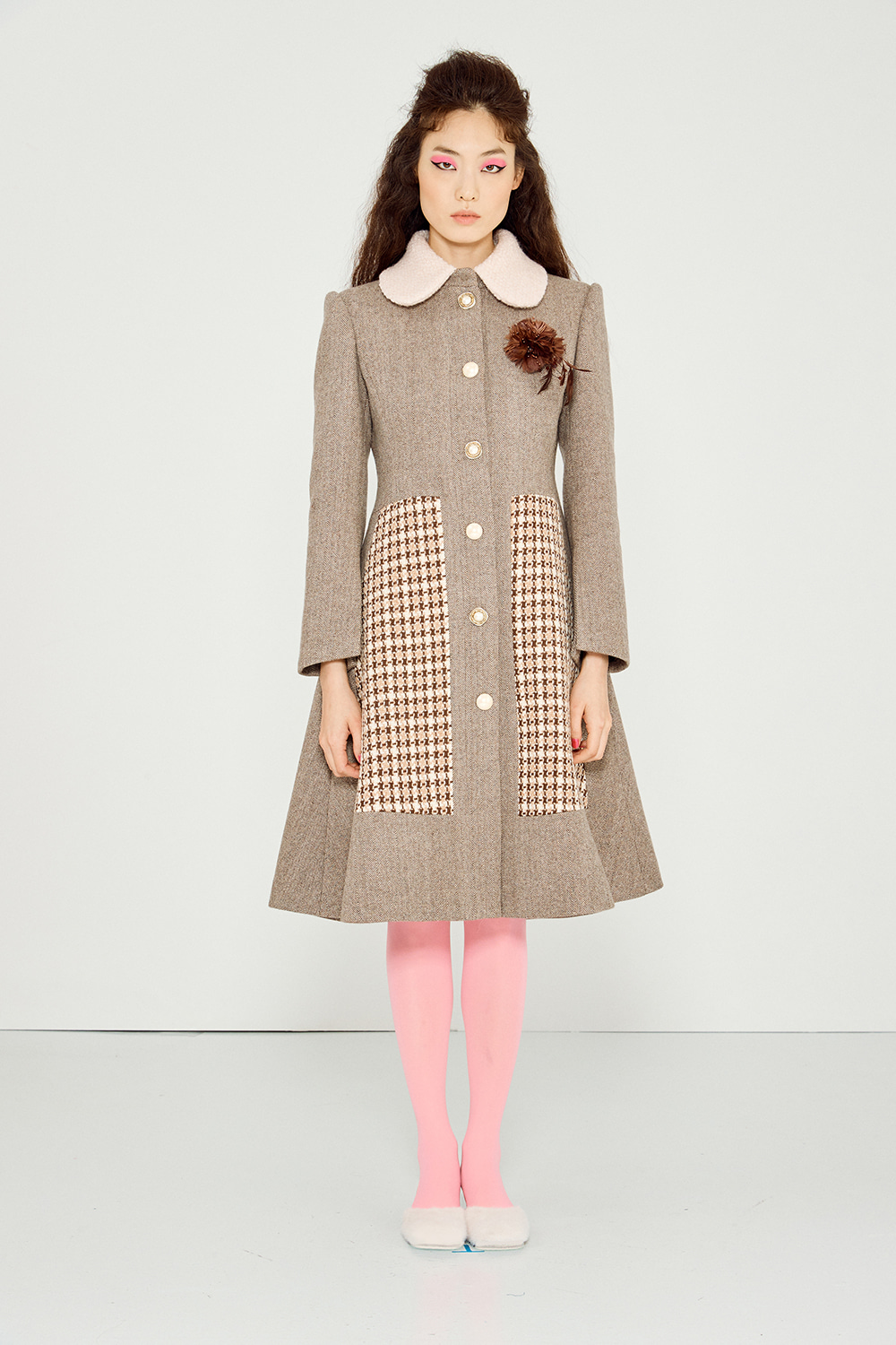 Collage Coat (MOCHA BEIGE)