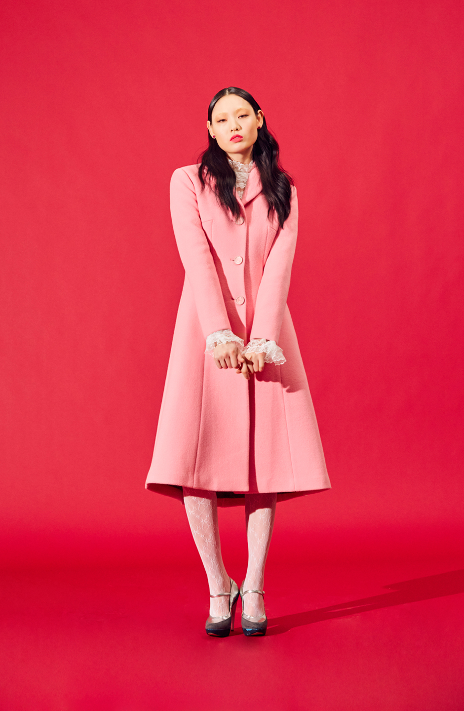 Three Button Coat(PINK)