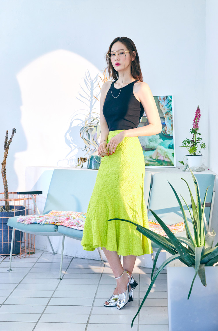 Neon Mermaid Skirt(LIME)