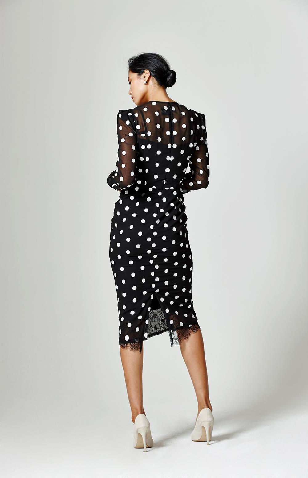 Dot Seethrough Onepiece
