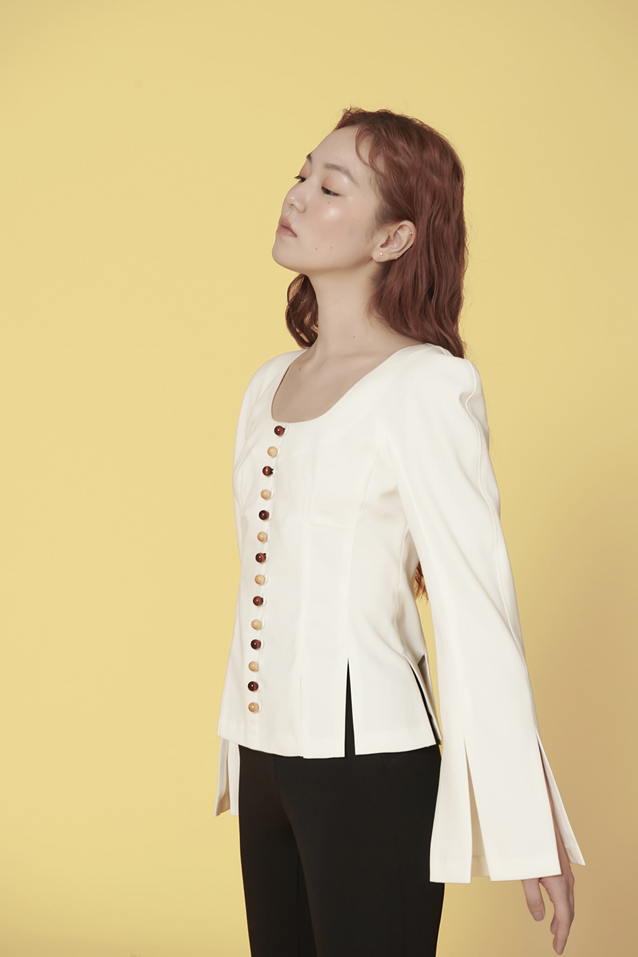 Button Blouse(WHITE)
