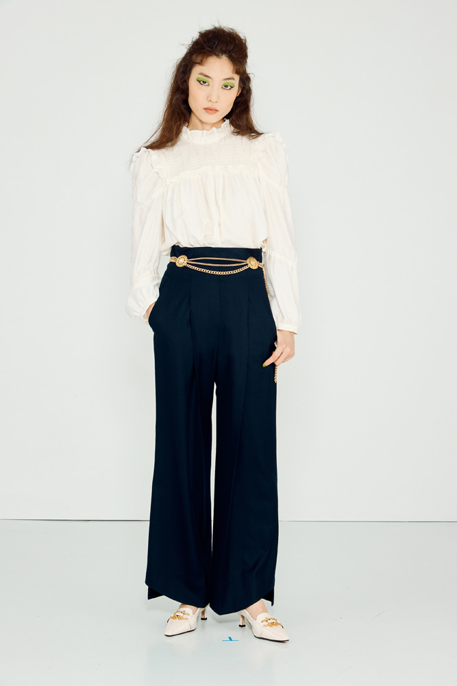 Wool Blend Highwaist Pants